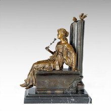 Classical Figure Statue Lady Missing Bronze Sculpture TPE-1008