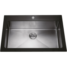 G1901 Single Bowl Glass Stainless Steel Sink