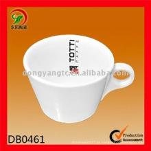 Logotipo personalizado por atacado comida segura Caneca de chá de porcelana, microondas caneca segura