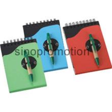 Schreibwaren Set Papier Haftnotiz Recycled Notebook mit Stift