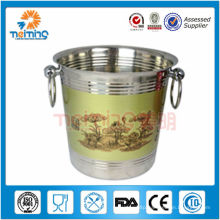 wholesale buffet stainless steel beer ice bucket, hold bottle and ice