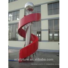 Vente chaude en acier inoxydable moderne fontaine sculpture sculpture en métal province du Zhejiang