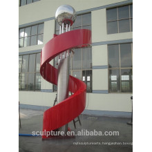 Hot selling modern stainless steel fountain sculpture metal sculpture zhejiang province