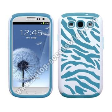 Samsung Galaxy s3 i9300 Zebra Pc+Silicon Case