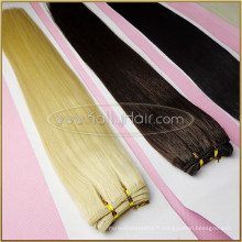 L'armure de cheveux vierges de la meilleure qualité 6a 100% de cheveux humains non traités crus non tissés