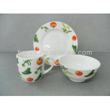 Juego de desayuno de cocina de cerámica
