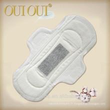 Le coton bambou a perforé la serviette hygiénique de coton de soin doux femelle avec l'OEM / ODM