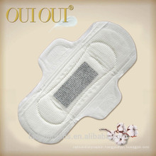 Bamboo charcoal perforated female soft care cotton sanitary pad with OEM/ODM