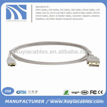 High Quality Standard USB cable A to Mini usb cable beige