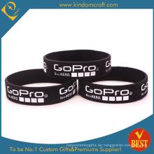 Benutzerdefinierte spezielle Größe Silikon-Armbänder mit gedruckten Logo (KD1807)