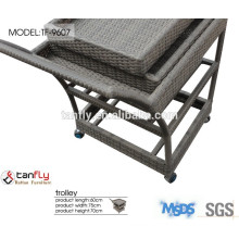 High quality home use wicker rattan trolley.