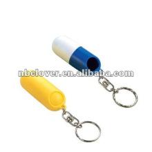 Keychain da caixa da pílula do curso para a promoção