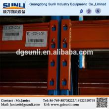 Venda quente aço inoxidável ajustável de armazenagem porta palete