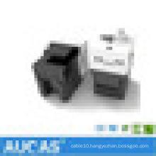 cat5e industrial dust-proof unshielded module / Toolless 180 degree UTP RJ45 keystone module