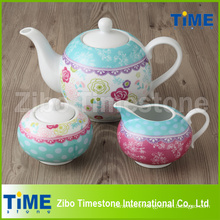 Wholesale Decal Porcelain Tea Set