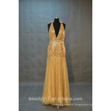 IN STOCK sleeveless prom dress Party dresses Halter v-neck evening dresses SW38