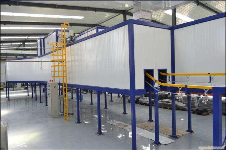 automatic spray powder line