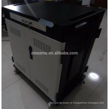 2016 carregamento do armário / carrinho de carregamento / para ipad com led indicador e vidro