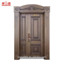 China suppliers commercial luxury copper bronze door modern steel doors villa double gate door
