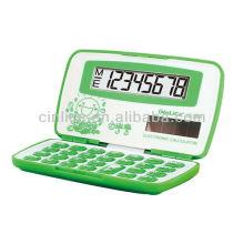 Calculadora eletrônica dobrável, mini calculadora bonito