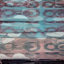 Casa de vestuário de malha moda têxtil aparamento do laço tecido