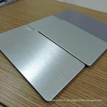 Material de alumínio em alumínio escovado de prata Acm