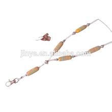 Lanière perlée de pierre gemme dépouillée Bohème de mode, lanière de collier perlée