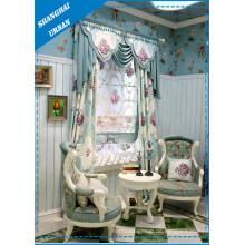 Europa-Art-Blumen-Polyester-Druck-Fenster-Vorhang