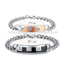 Romantic metal chunky diamond his and her bracelet,relationship bracelets for him and her