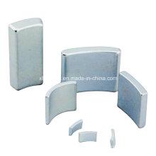 Diferentes tamanhos Arc Zinco superfície permanente gerador ímã