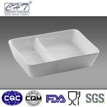 "4.25"" Rectangular porcelain serving dish for restaurant"