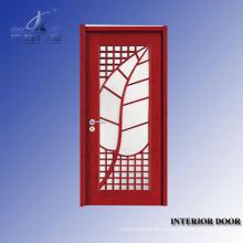 Piel de puerta de chapa natural de puerta de madera maciza