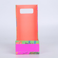 Colourful Die Cut Handle Paper Packaging Box