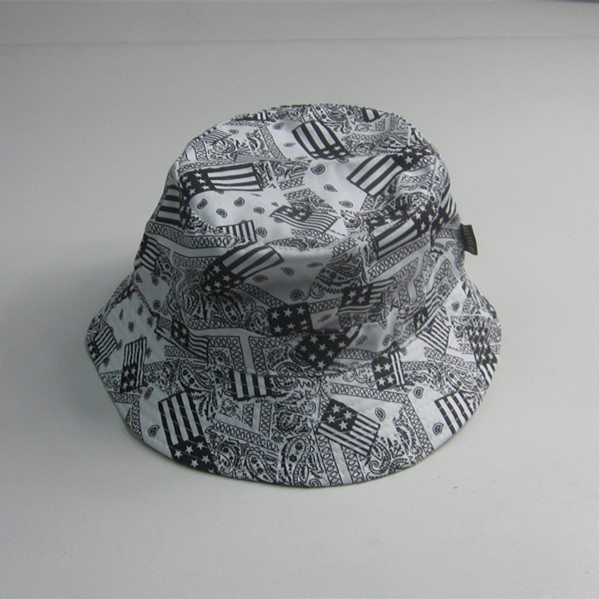 New Coming Fashion Flag Print Bucket Hat