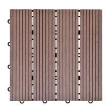 WPC Interlocking Deck Tiles Waterproof Anti-Slip DIY Composite Flooring Tile