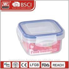Caixa de armazenamento de comida de plástico hermético 300ML com anel de vedação