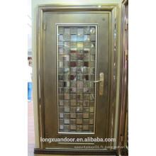 Porte en acier inox 304, porte de sécurité en acier inoxydable, porte d'entrée
