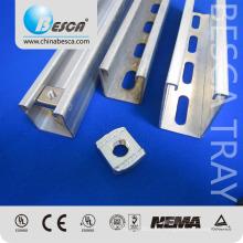 Galvabond galvanizado en caliente, material de acero eléctrico CU Uni Strut Channel Lista de precios 4x41 y 41x22