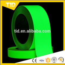 Glow in the dark film for safety guide, green