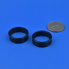 Black Zirconia Wedding Ring / Wearable Device Ceramics