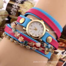 Nouveau diamant montre de mode féminine dames bracelet en chaîne montre femme quartz DIY montre BWL020