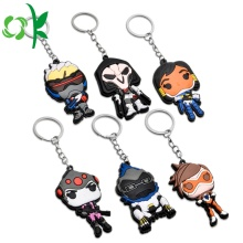 Custom Embossed 3D Soft PVC Cool / Fashion Silicone Keychain