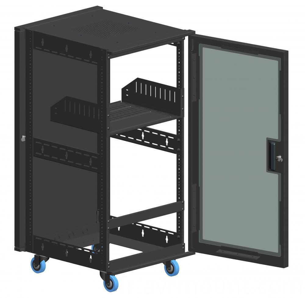 AV rack 21u door shelf