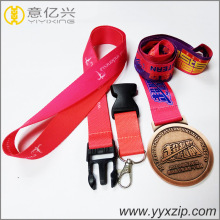 Sublimation Nylon Promotional Neck Badge Holder Lanyard