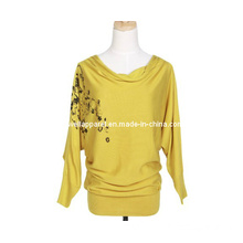 Woman Knit Wear with Print (SZWA-1045)