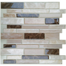 Waterproof self-adhesive vinyl backsplash peel stick tile