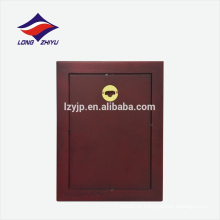 Placa de prêmio de madeira em forma de retângulo personalizado em branco