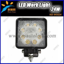 24W 12V/24V Rectangular Led work light/Led work lamp for heavy duty