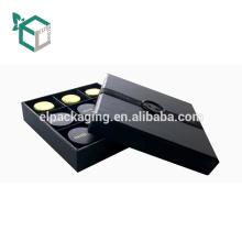 Tapa de sellado en caliente y caja cosmética profesional de la cartulina de la impresión en papel