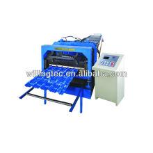 Máquina de fabricação de folhas de telhado de aço